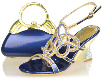Wholesale royal blue wedding shoes