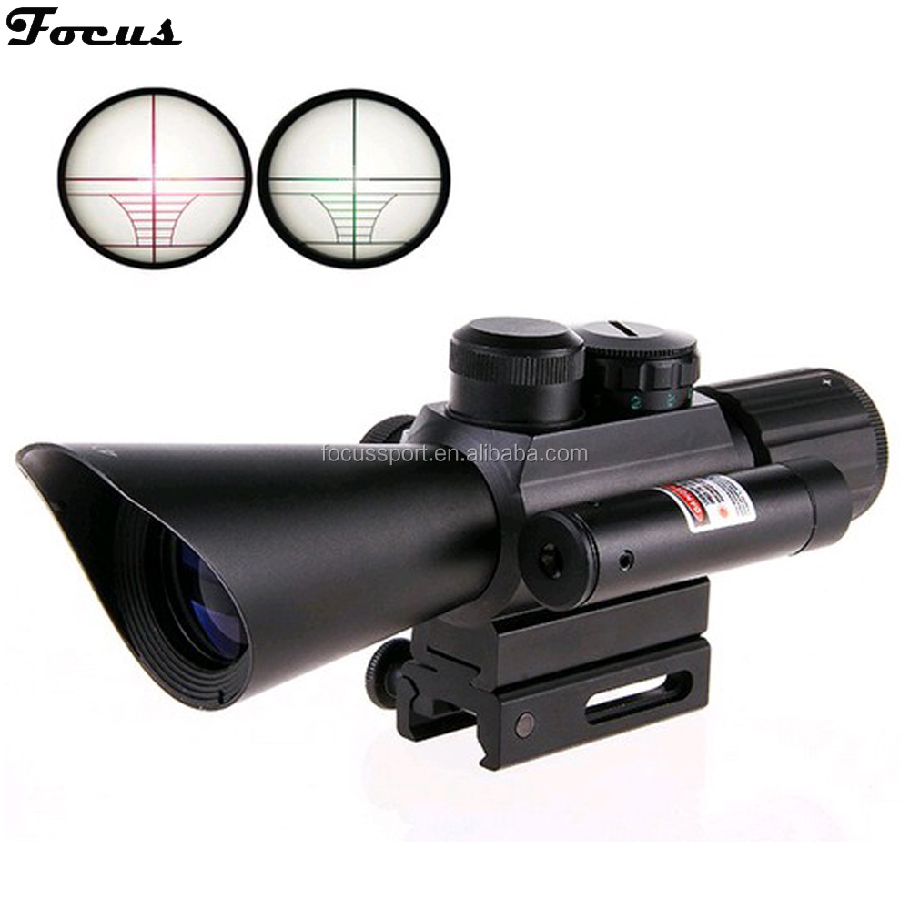 4x30 Rifle Scope/Dual illuminated Riflescope with Red Laser Sight