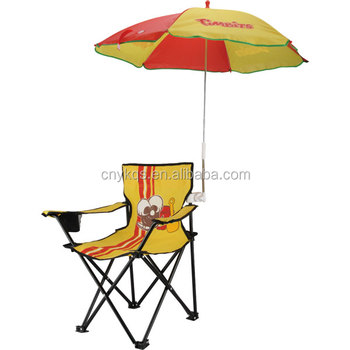 Furniture Animal Small Beach Camping Kid Chair With Umbrella And Armrest