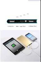 Popular Ultra thin credit card power bank 10000mah for all cell phone