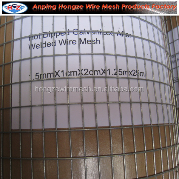 anping factory hot dipped or electro galvanized pvc coated welded wire mesh