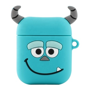 Hot Selling Cute Cartoon Wireless Earphones Silicone Protective Cover Case For Apple Airpods Charging