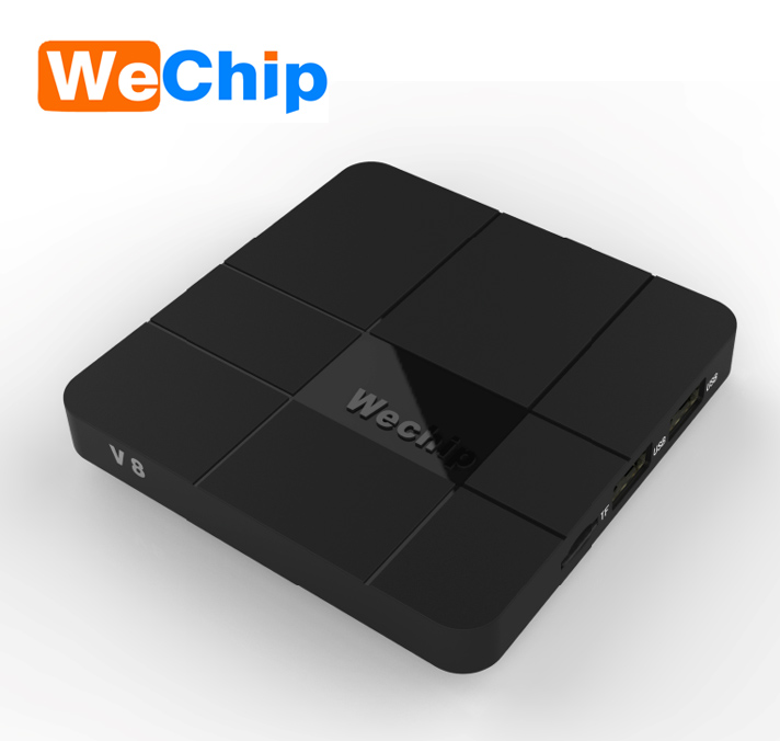2018 hot selling wechip v8 Amlogic s905w android 7.1 OS kodi cheapest android tv box 2gb ram 16gb rom