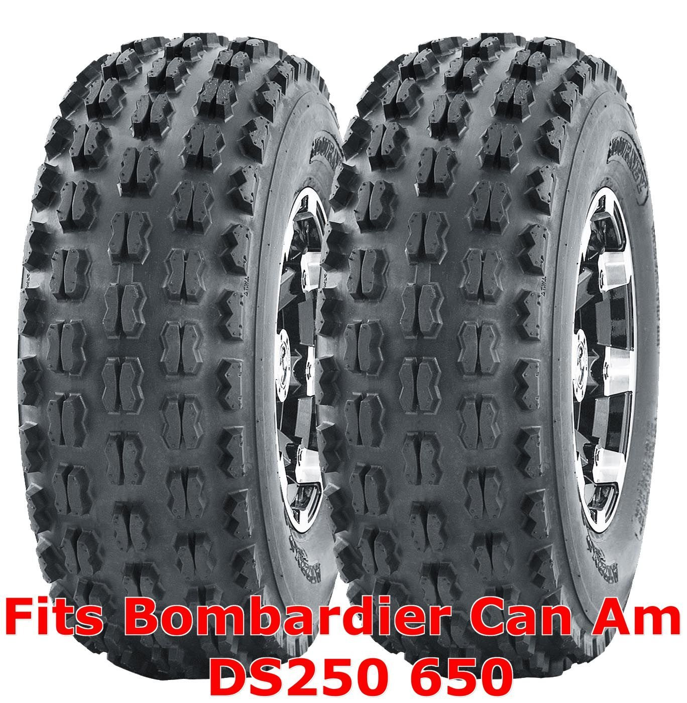 20x11-9 20x11x9 ATV Rear Tire Set Can Am Bombardier DS250 650 GNCC Racing