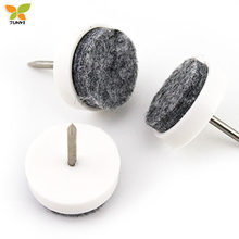 Felt nail-on furniture sliders for floor protectors
