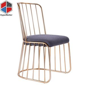 Simple design gold metal dining chair