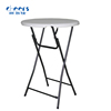 D.80cm Popular White Outdoor Plastic Folding Table High Bar Cocktail Table Folding Tables for Parties