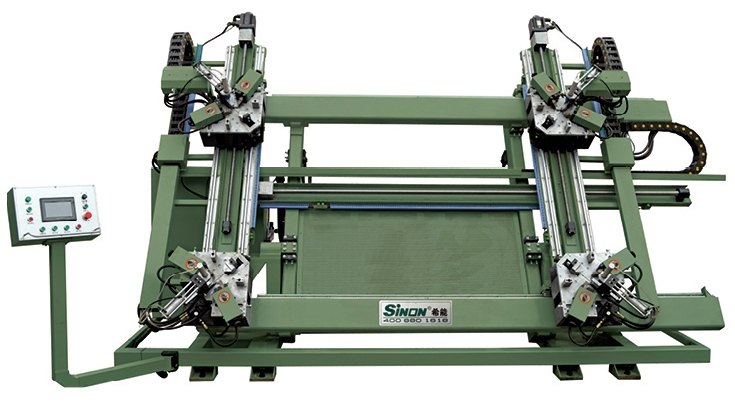 New design horizontal four head welding machine with great price
