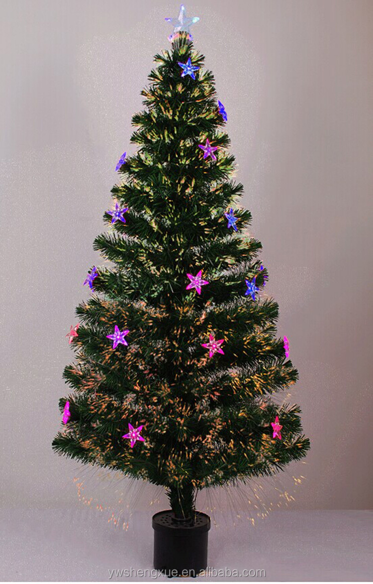 Vintage Artificial Christmas Trees.Artificial Christmas Tree Led Rainbow Optical Fiber Christmas Trees 90cm 210cm Decorated With Star Buy Optical Fiber Christmas Tree Beautiful