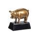 resin golden pig trophy statue