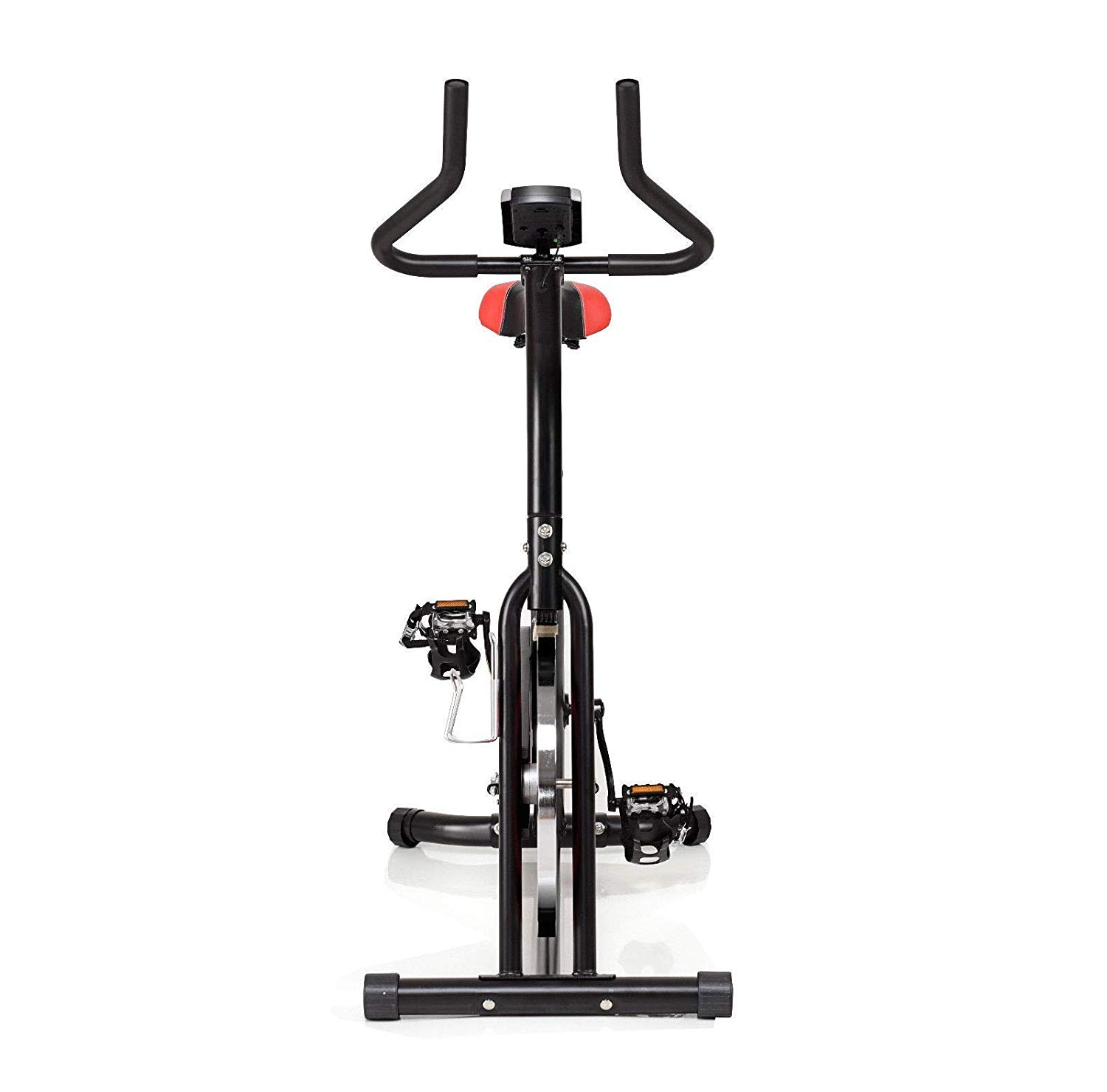 BeUniqueToday Indoor Cardio Fitness Stationary Exercise Bike, Fitness Stationary Exercise Bike with Heavy Duty Steel Frame and Crank, Adjustable Indoor Cardio Fitness Stationary Exercise Bike