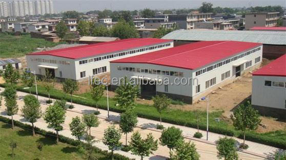 Large span steel structure arch building for industrial workshop
