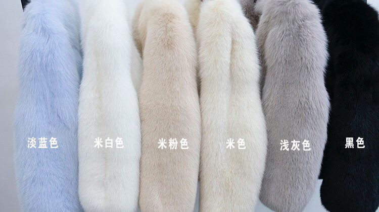 High Quality Factory Direct Finland Real Fox Fur Coat  Fur Outerwear Lady's Warm Fur Jacket