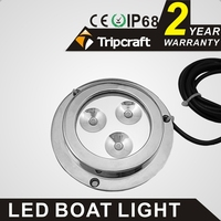 12v underwater waterproof led light bar, mini underwater led round light with IP 68 certification