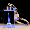 Wholesale Gift 3d laser engraving crystal glass keychain/glass Keyholder