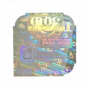 Free Design Security Hologram Sticker for Certificate with Brand Logo Printing