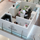 Nail beauty kiosk design good quality beauty salon/spa furnitures