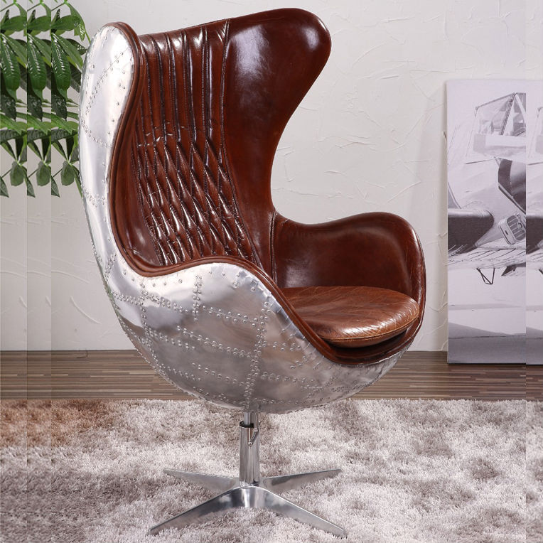 Aviator Spitfire Leather Egg Chair Aluminium Plated   Buy Spitfire Leather  Egg Chair,Egg Chair Aluminium Plated,Aviator Spitfireegg Chair Product On  ...