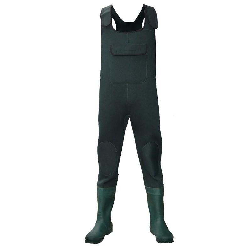 9e0119f8694c8 china factory fishing wade outdoor suit nylon PVC coat water proof hunting  wader men's Thinsulate neoprene