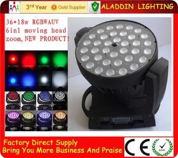 Alta potencia rgbwauv 36pcs18w 6in1 moviendo la luz principal de la colada del zumbido buy - Moviendo perchas ...