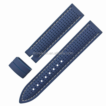 18mm 20mm 22mm silicone rubber diving wrist watch straps with stitching