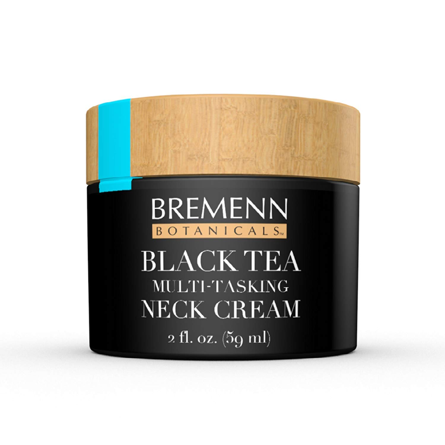 Black Tea Skin Care Multi-Tasking Neck Cream - Topical Compound for Younger, Healthier, More Vibrant-Looking Skin and Increased Elasticity, Toning, and Suppleness, (2 fl. oz.)