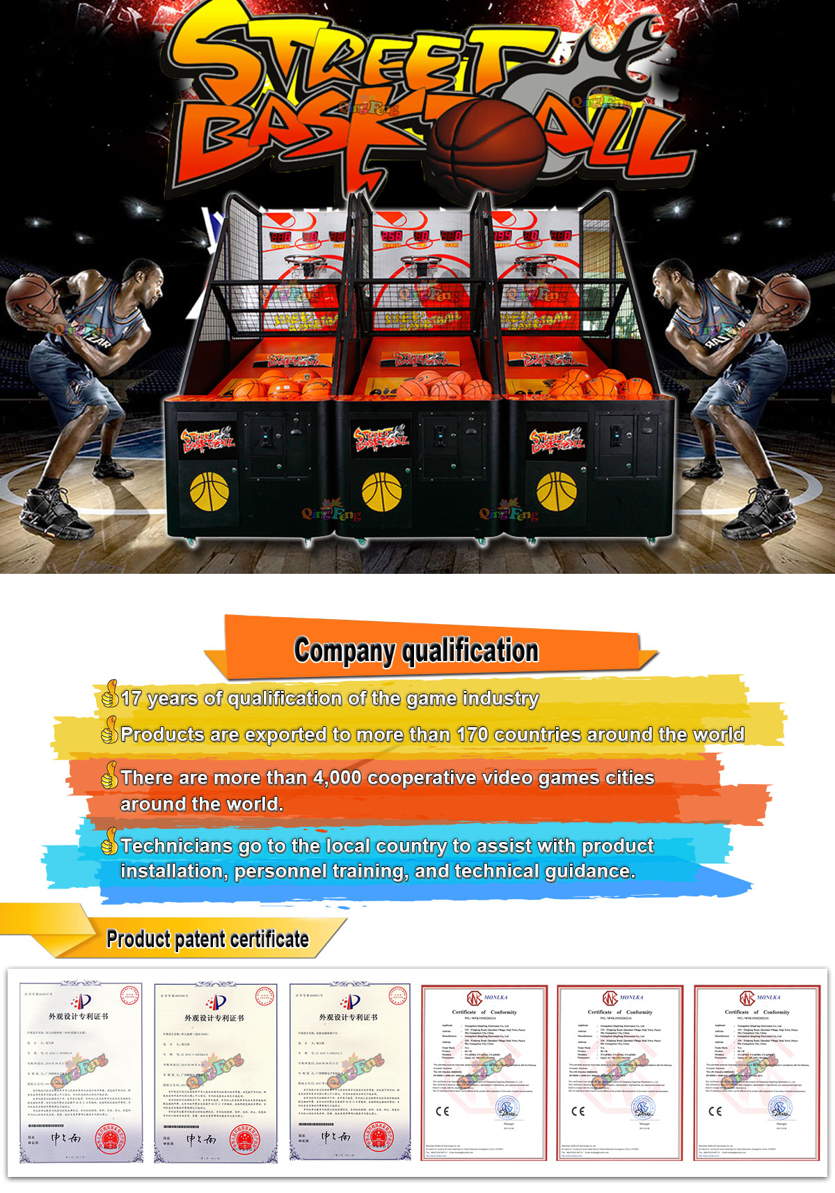indoor coin operated games arcade crazy hoop street basketball game machine new basketball game machine