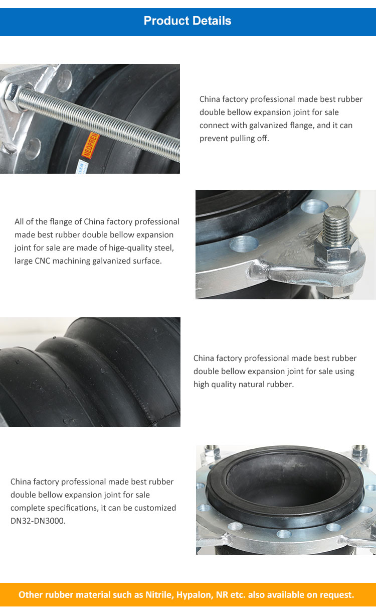 Huayuan Best quality oil resistant Flexible rubber expansion joint union type