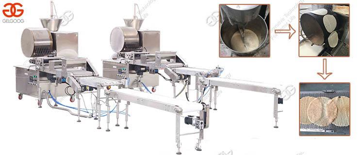 Gas Verwarming Automatische Samosa Pastry Sheet Apparatuur Productielijn Injera Lente Roll Maken Machine Voor Verkoop