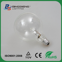 125mm Size Big Globe Energy Saver Halogen Lamp G125 230V 53W/70W/100W E27 Instead of traditional incandescent bulbs