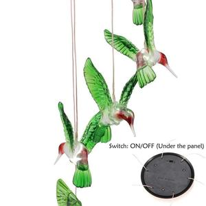 2018 Amazon Hot sell waterproof 7 colors solar light sensitive wind chimes For Home / Party / Yard / Garden Decoration