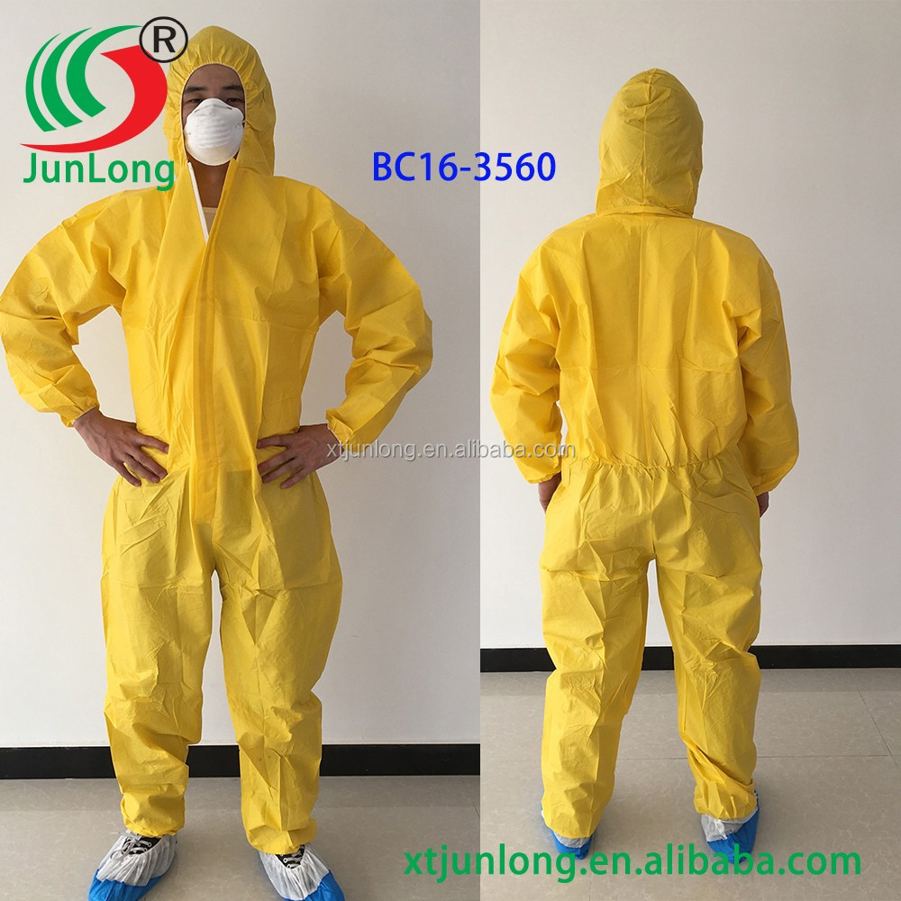 Type 56 protective clothing coated Polyethylene overall