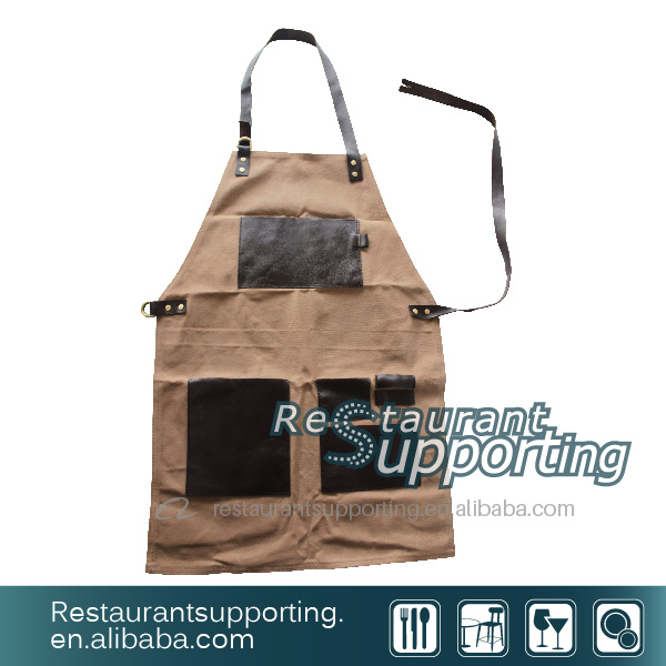 Useful Canvas Apron For Restaurant Kitchen Cooking