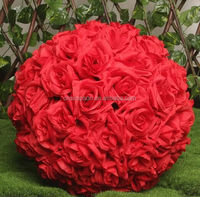 2016 all rose artificial flowers ball for wedding decoration centerpiece and table