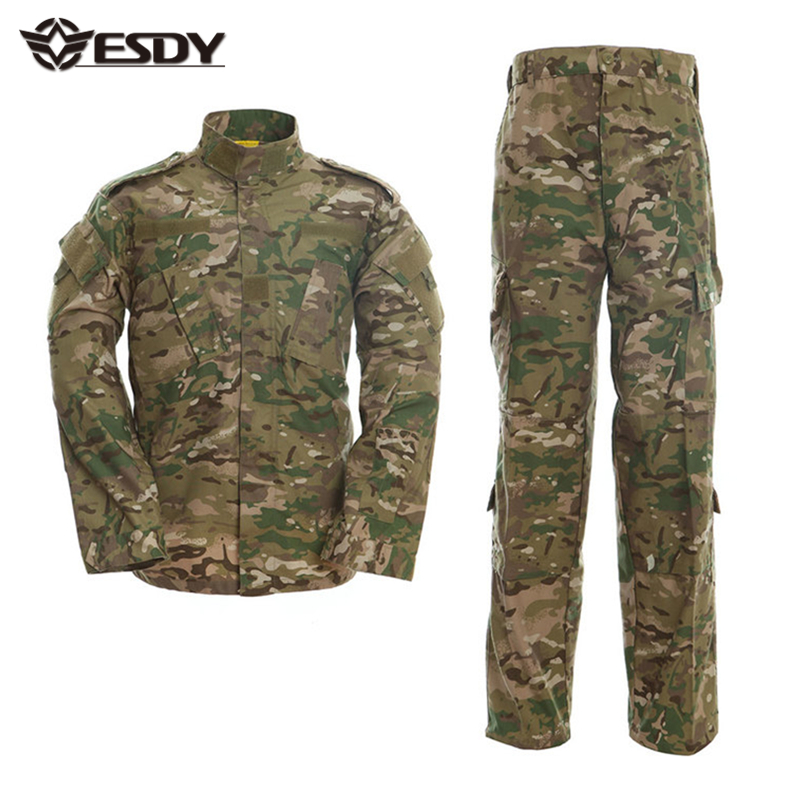 23 Colors Airsoft Tactical ACU Suit Wargame Paintball Military Combat Army Uniform