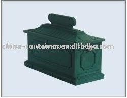 green plastic America style customized rotational mail box