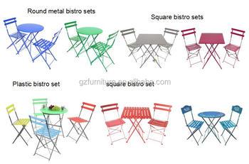 Premium Steel Patio Bistro Set, Folding Outdoor Patio Furniture Sets, 3  Piece Patio Set