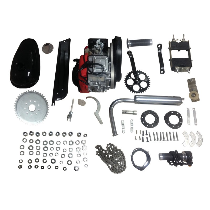 Hot sale 49cc 4 stroke single cylinder push cycle engine parts motorised bike in stock
