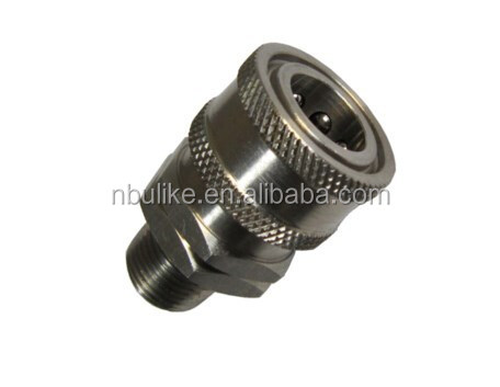 Stainless steel agricultural intercharge ball valve hydraulic fitting