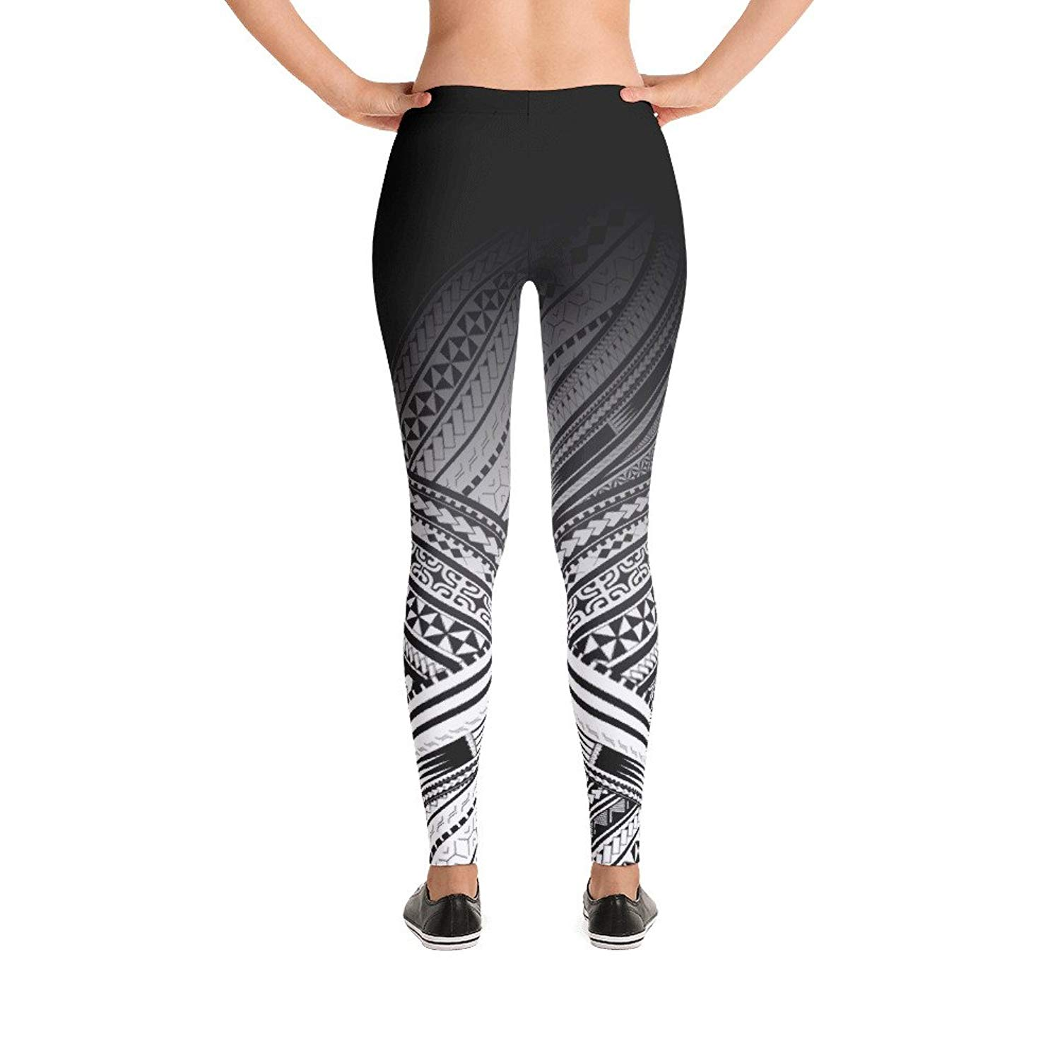 Athletic Yoga Leggings from DiaNoche Designs by Pam Amos Quilted Flower