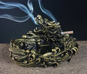 High-end vintage ashtrays, modern desktop material resin ashtray, cigarette ashtray for indoor or outdoor use, desktop to home office decoration, smoking ashtray