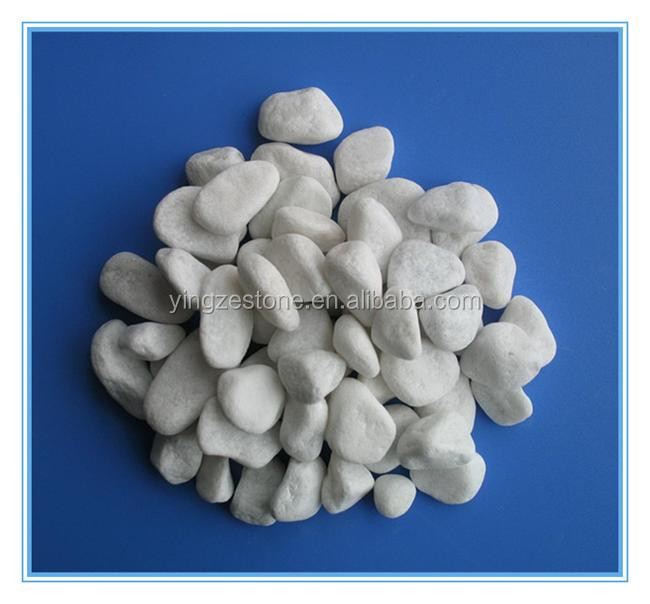 Cheap China White Marble Pebble Stone Aggregate For Garden Road ...