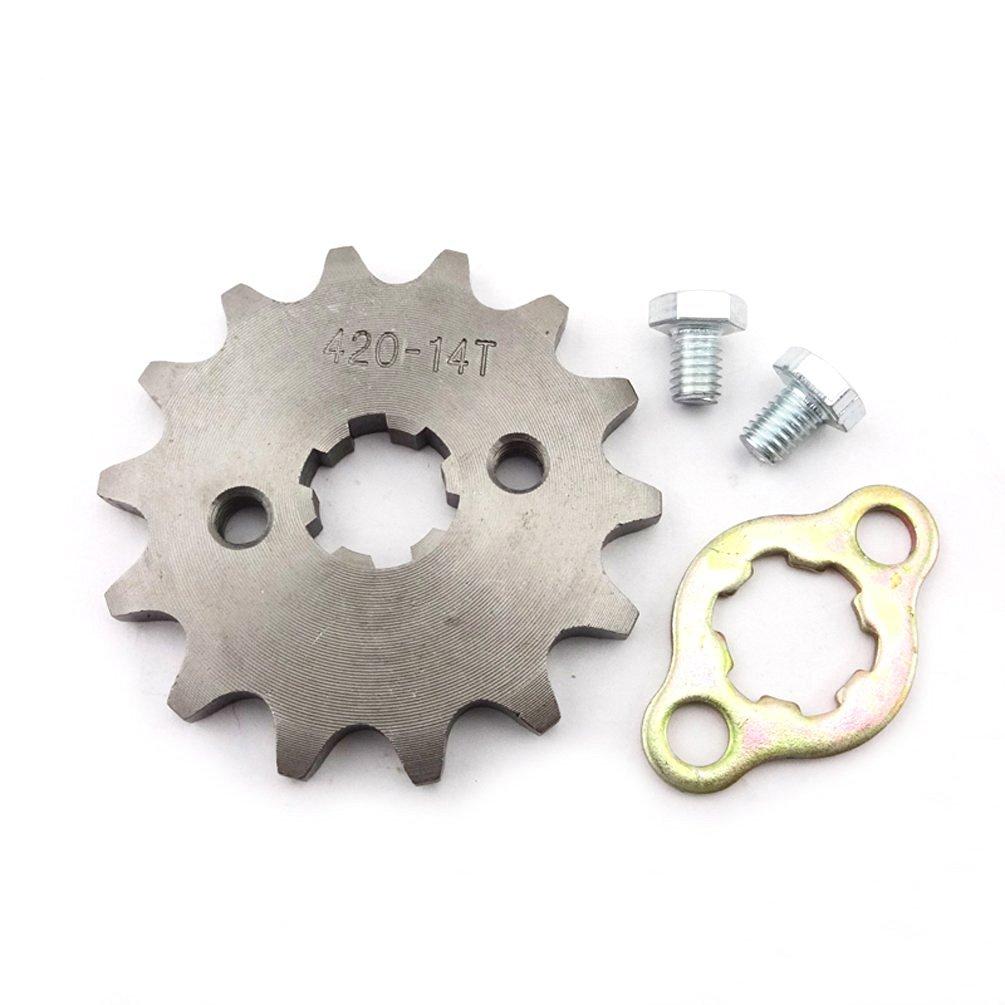 XLJOY 428 16 Tooth 17mm Front Sprocket Gear for ATV Pit Dirt Bike Lifan YX 50cc-160cc Engine