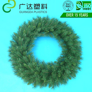 Top quality door floral wreath decoration PVC Christmas graduation garland