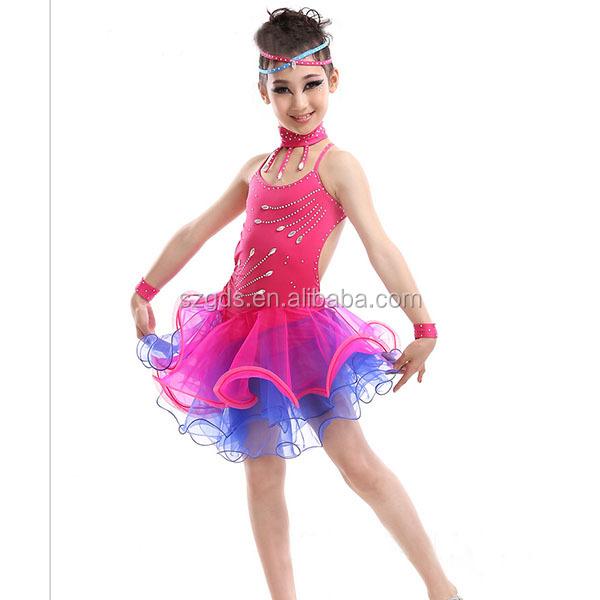 Buena Lujo Niños Profesional Competencia Americana Traje De La Danza ...