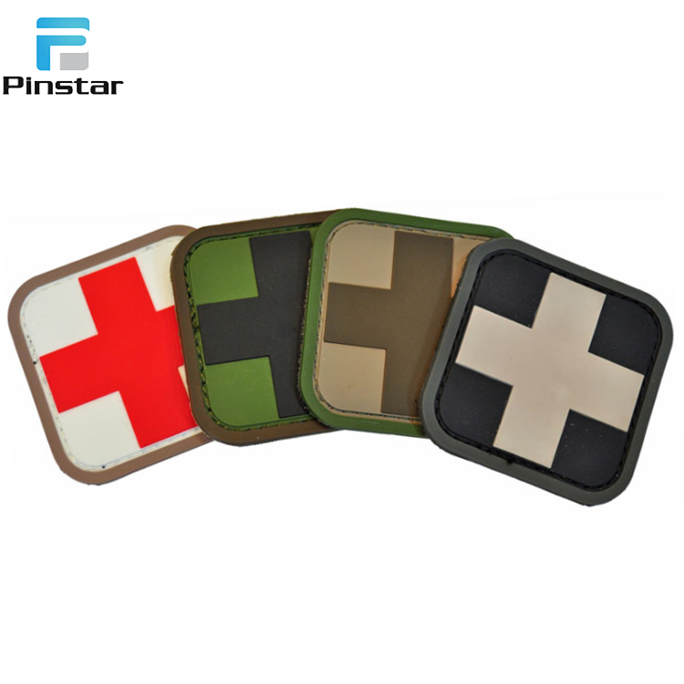 3D PVC Morale Tactical soft Rubber Custom PVC Patch
