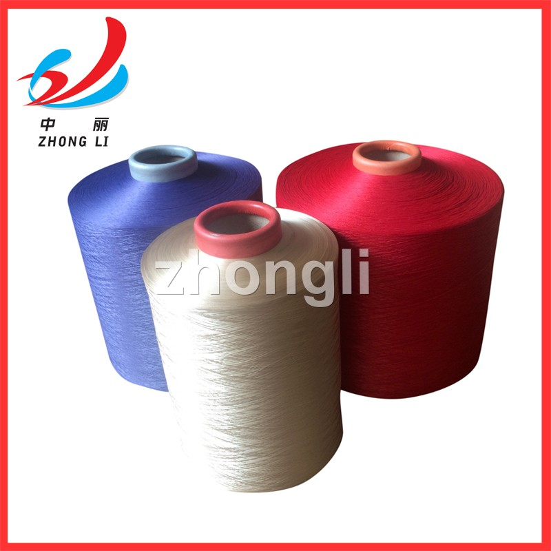 100% polyester yarn 150D 300D 450D 600D dope dyed color HIM NIM