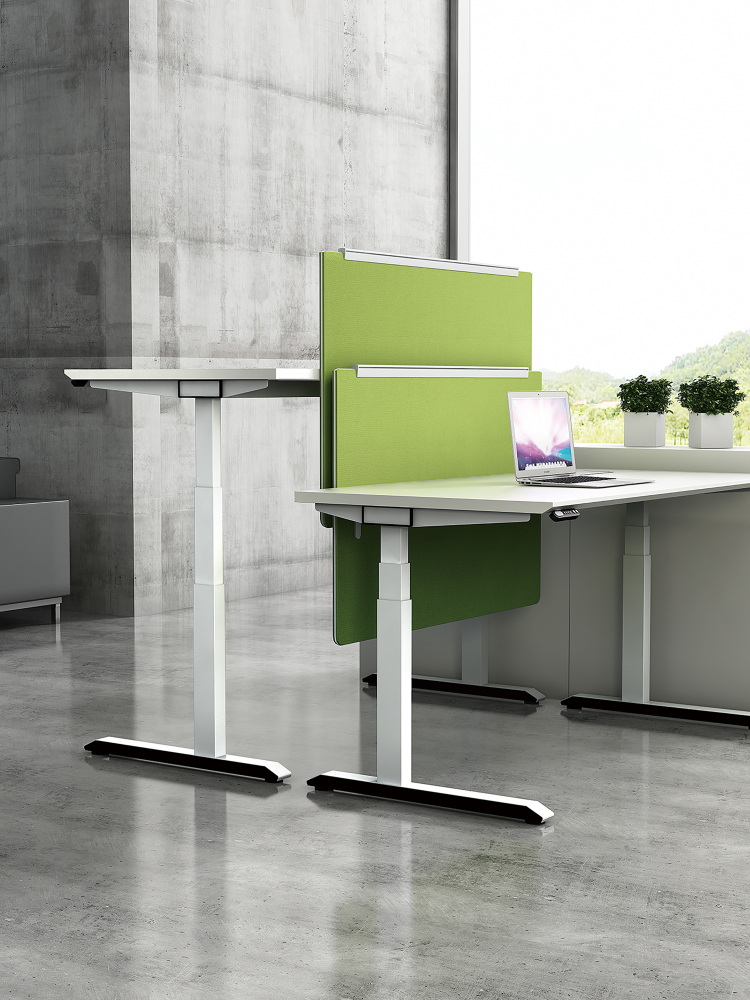 Modern High Tech Adjule Two Person Office Desk Table Furniture