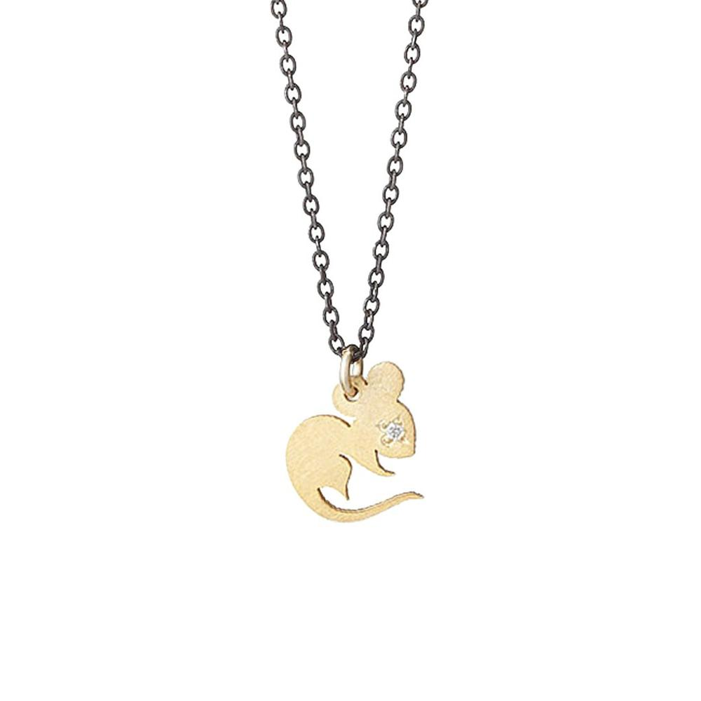 Hotselling stainless steel cz stone gold plate chinese zodiac charm