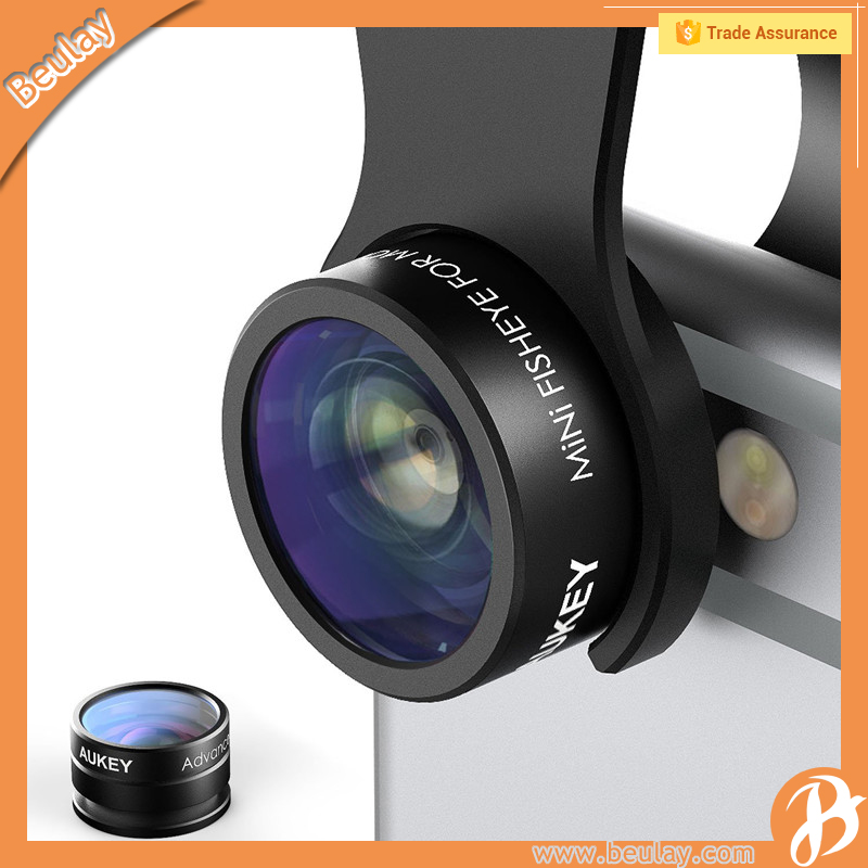 AUKEY PL-A2 Optic for iPhone 160 Fisheye Lens 20x Macro Mini Clip-on Cell Phone